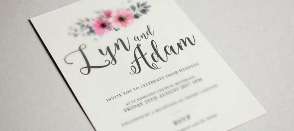 Bespoke wedding stationary