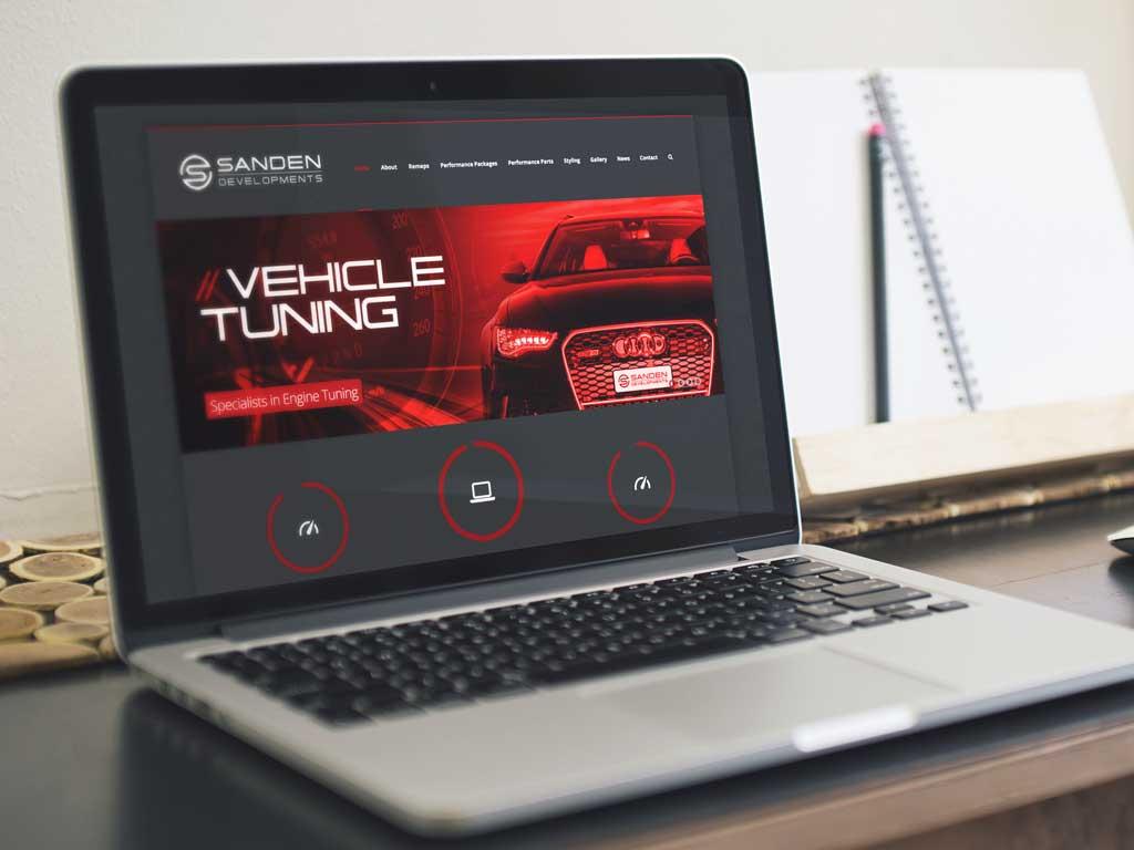 Sanden wordpress website dsign